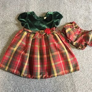Christmas dress with matching bloomers